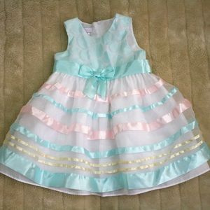 Bonnie Baby Mint Pink Easter Dress 24M